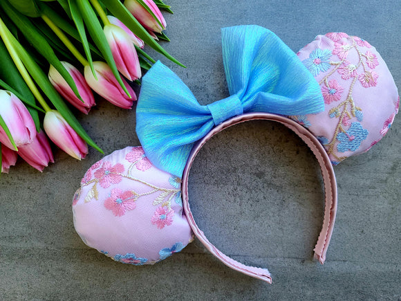 Spring Blossoms Inspired Minnie Ears