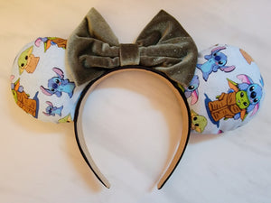 Stitch and Baby Yoda Inspired Minnie Ears