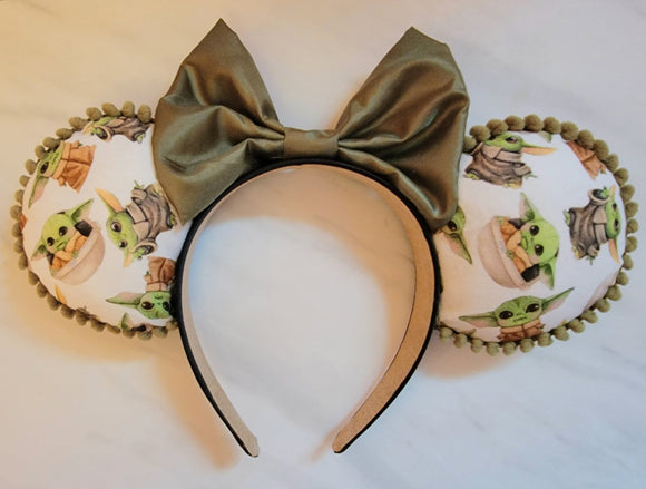 Baby Yoda Inspired Minnie Ears