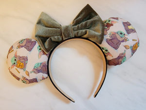 Snackin' Baby Yoda Inspired Minnie Ears