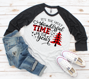 Most Wonderful Time of the Year Baseball Tee