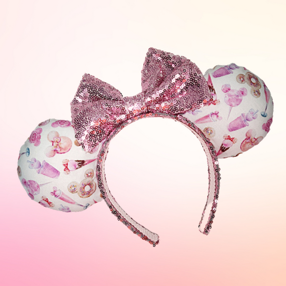 Pink Sweets Inspired Minnie Ears