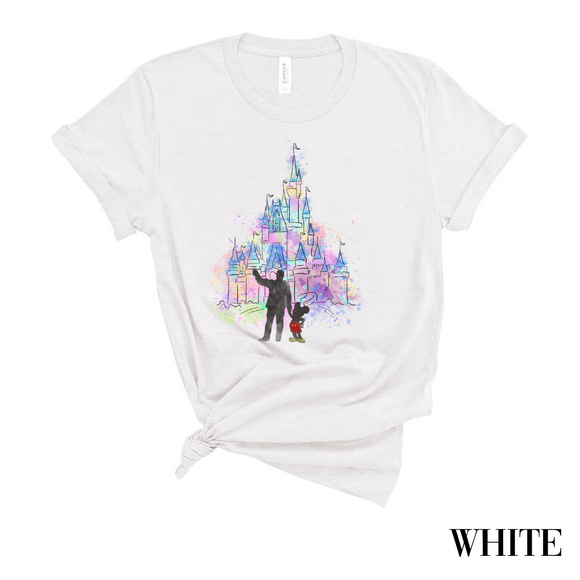 Watercolor Castle T-Shirt