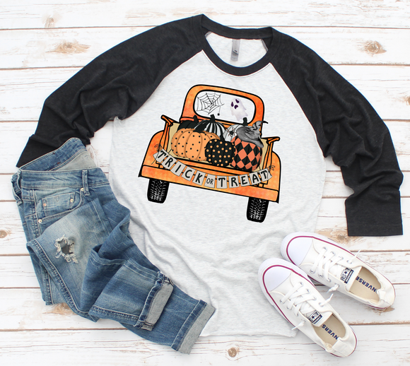 Trick or Treat Baseball Tee