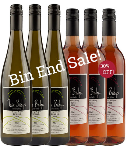 2016 Riesling & Rosé - Bin End Mix 6 Pack Sale