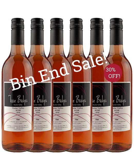 2016 Hunter Valley Chambourcin Rosé - Bin End 6 Pack Sale
