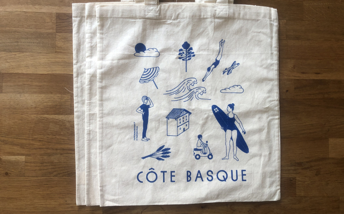 TOTE BAG - Côte Basque Bleu