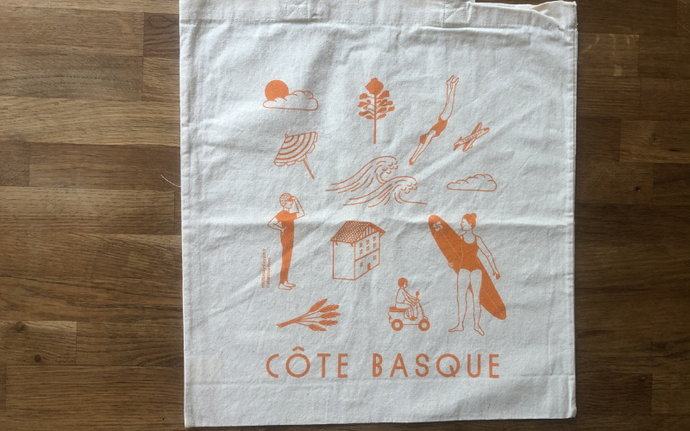 TOTE BAG - Côte Basque Jaune Orangé