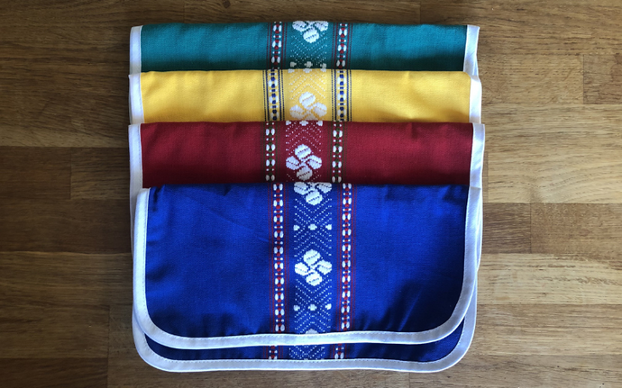 ÉTUI SERVIETTE DE TABLE - Croix basque