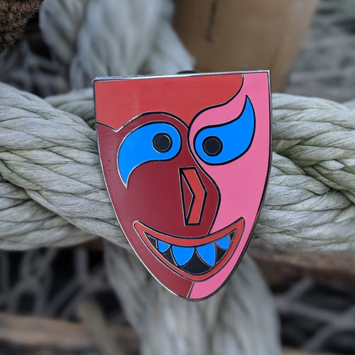 Polynesian Mask pin