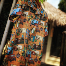 "Load image into Gallery viewer, ""Untold Adventures"" Aloha Shirt"