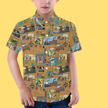 "Load image into Gallery viewer, ""Untold Adventures"" Youth Aloha Shirt"