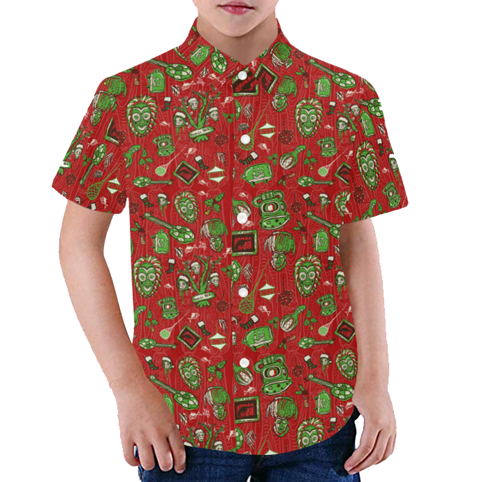 Sam's Holiday Hoopla Youth Aloha Shirt