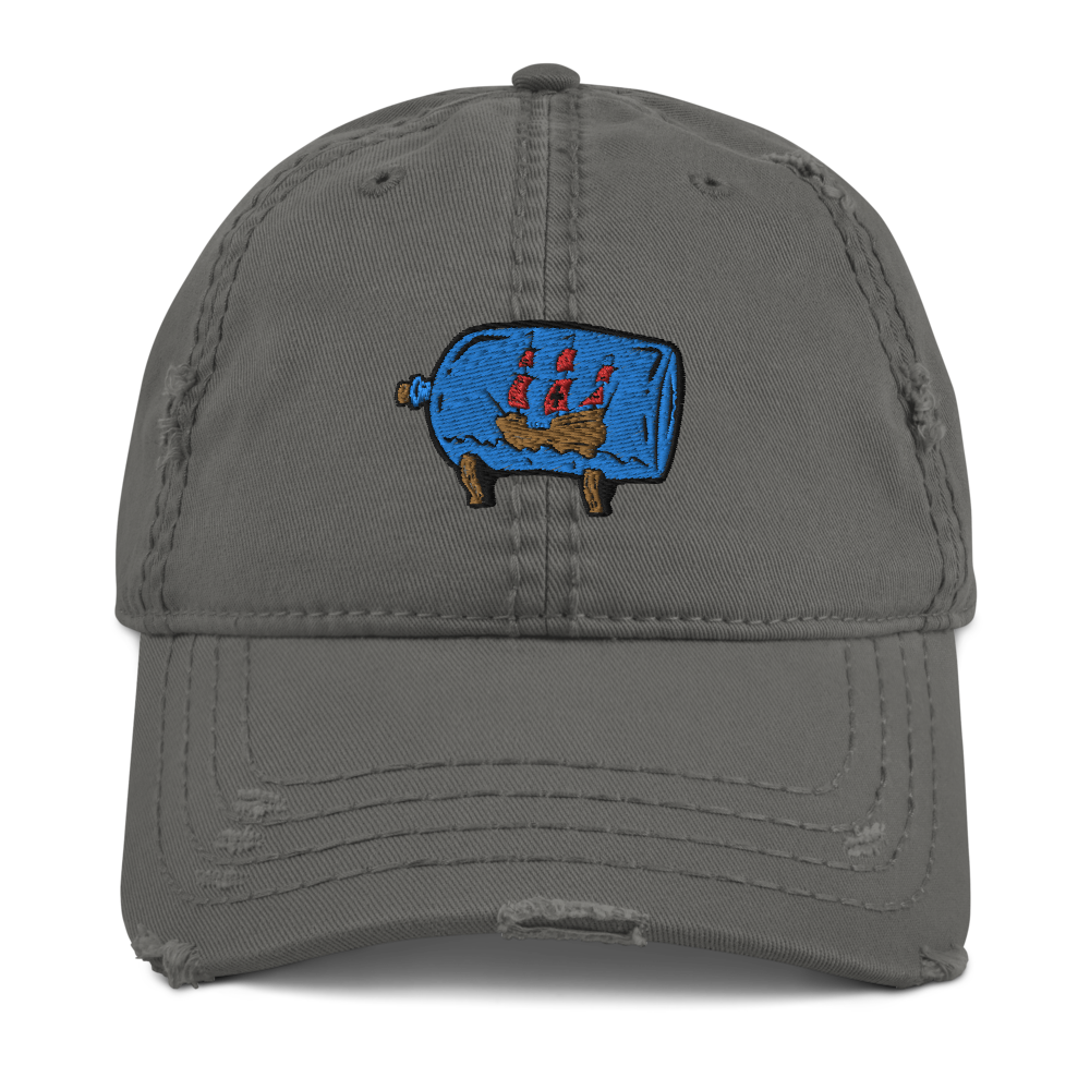 Distressed Ship in the Bottle Hat