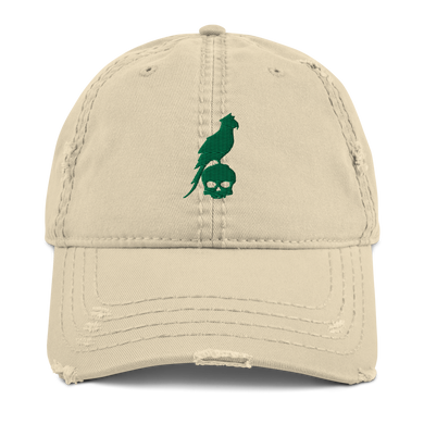 Distressed Green Parrot Hat