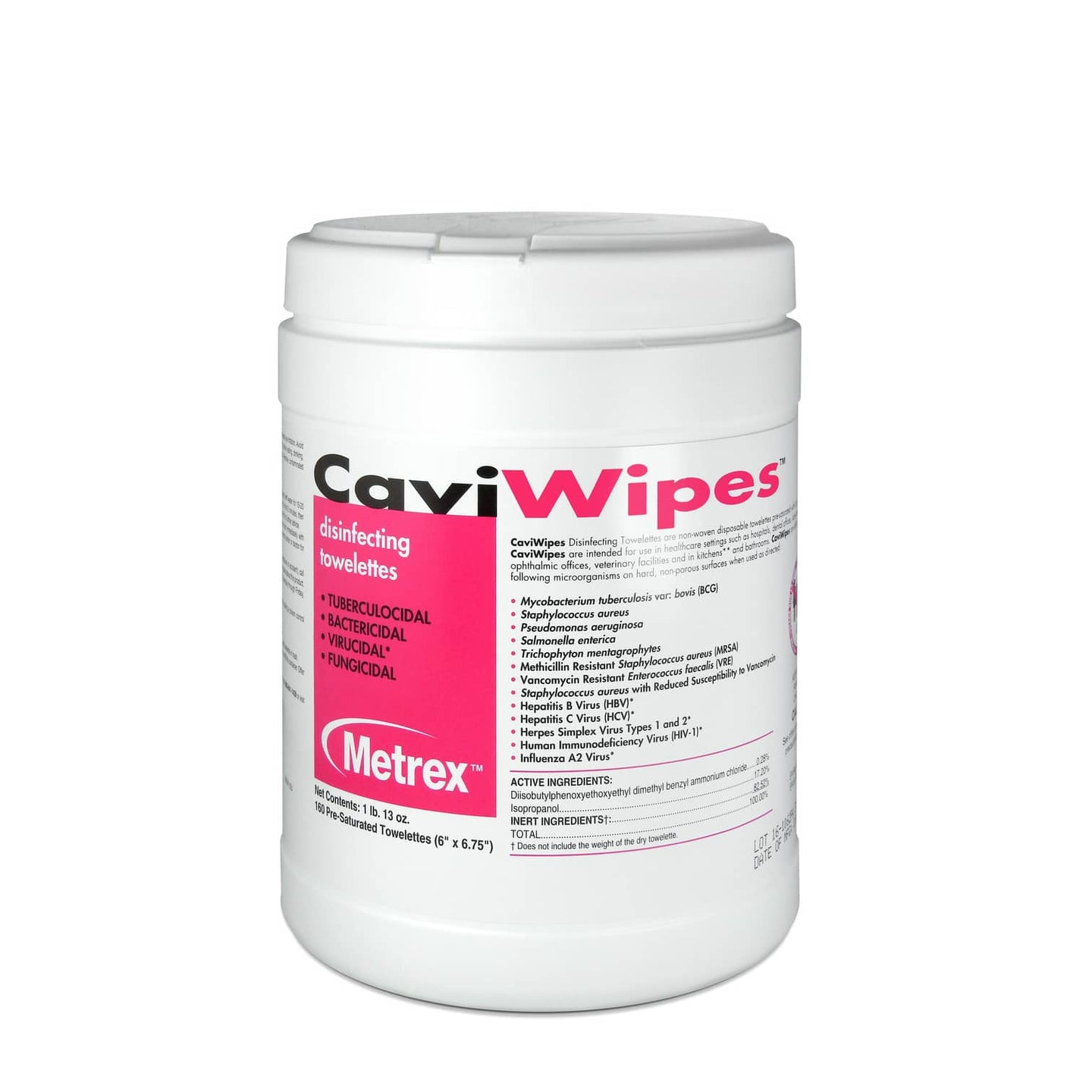 Caviwipes Cleaner and Disinfectant Towelettes, 160/Can