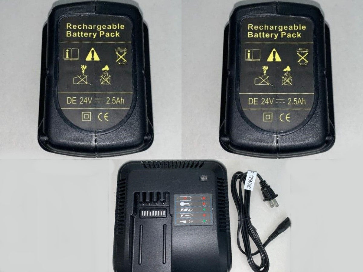Dewalt Style Battery Kit For Powered Ambulance Cots (Includes Two Batteries And Charger) | NEW
