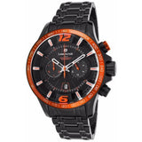 Lancaster Italy-Men's-Hurricane-Chronograph-Black Brown/Orange Accents Watch - LANCASTER-OLA1063-Color Accents choice