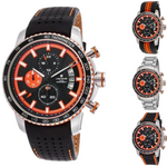 Lancaster Italy-Men's-Freedom-Chronograph - OLA1064- Orange Accents - Choice of Bracelet