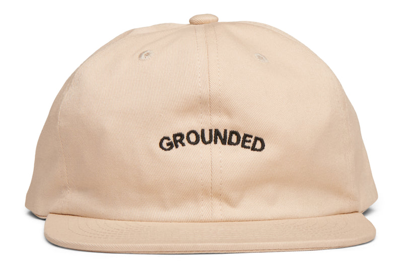 "6 Panel Cap ""Grounded"" - Eggshell"
