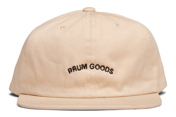 "6 Panel Cap ""Raum Goods"" - Eggshell"