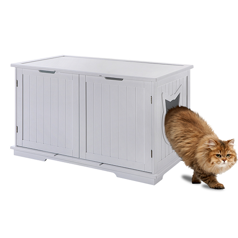 cat litter box furniture; cat litter box
