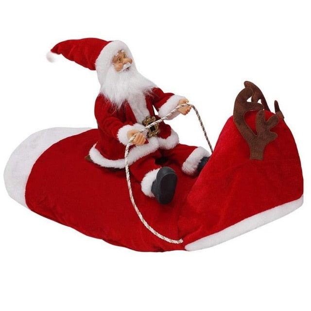 Christmas Santa Claus Riding Deer Dog Costume