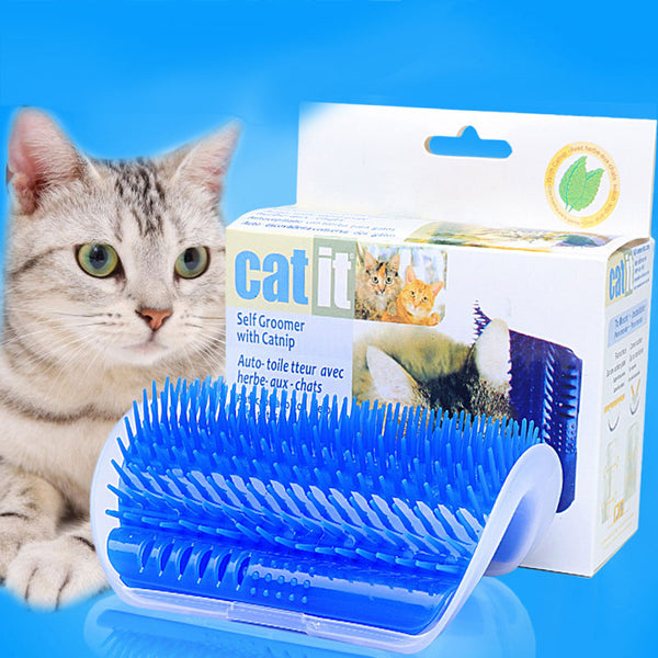 Self-massage Self Groomer Brush For Cats With Catnip Included