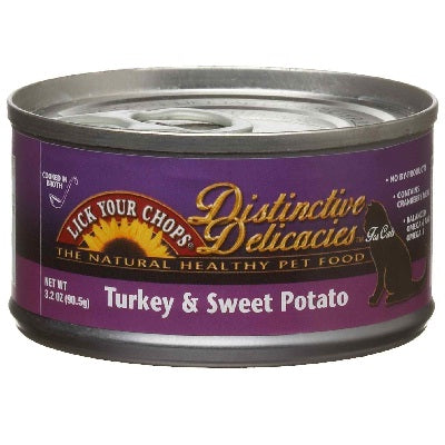Lick Your Chops Turkey & Sweet Potato Cat Food (24x3OZ )