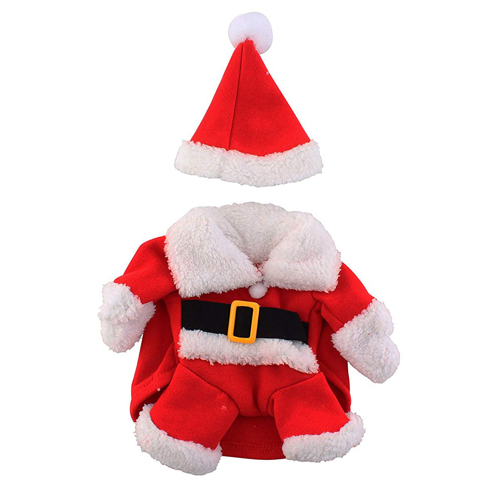 Lovely Christmas Pet Santa Claus Suit Costumes For Cat / Puppy