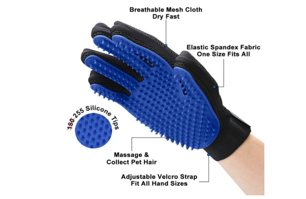 2020 upgraded Pet Grooming Glove - Paws and Me