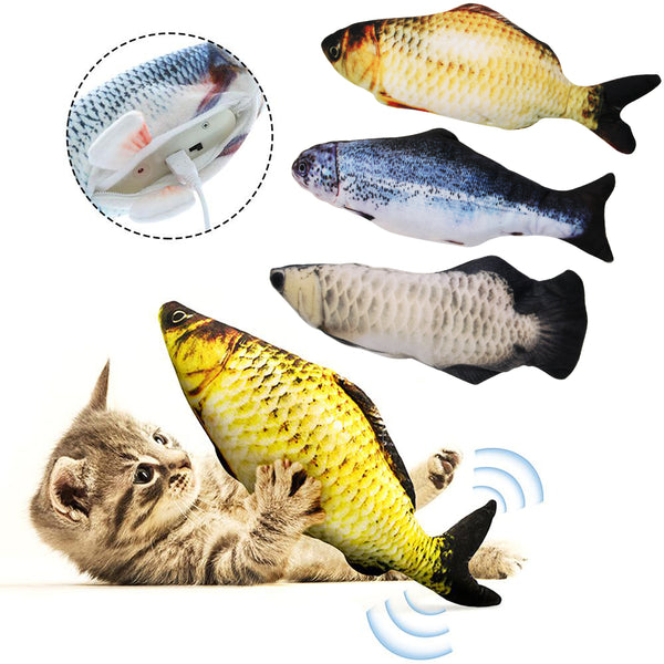 Electronic Pet Cat Toy Electric USB Charging Simulation Fish Toys