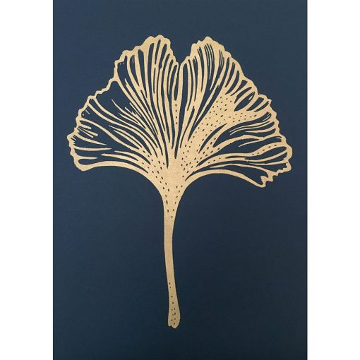 Monika Petersen Ginko Leaf Indigo
