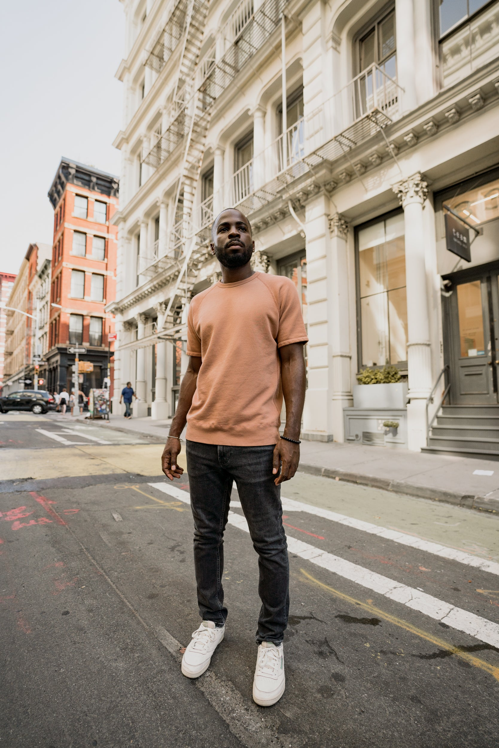 The Short Sleeve Sweatshirt - Copper