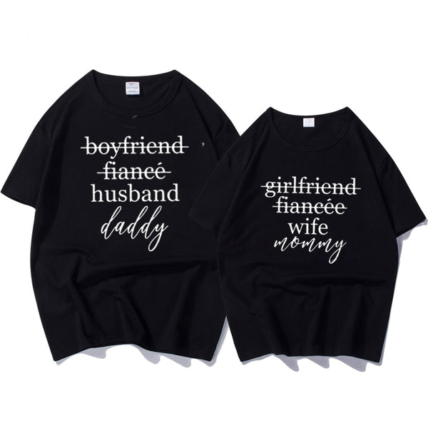 9aa8160f08 Female T-shirtt Couples T-shirts Funny Matching Wedding Top Tee Couple -  Coupido