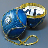 Blue Alligator Minaudiere