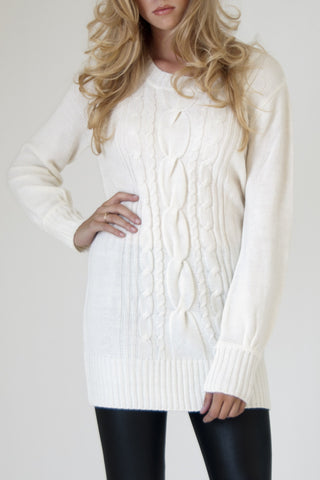 White Sweater Dress on Le Caniche Noir     The Leather Forecast  Stylish With Heavy Knits