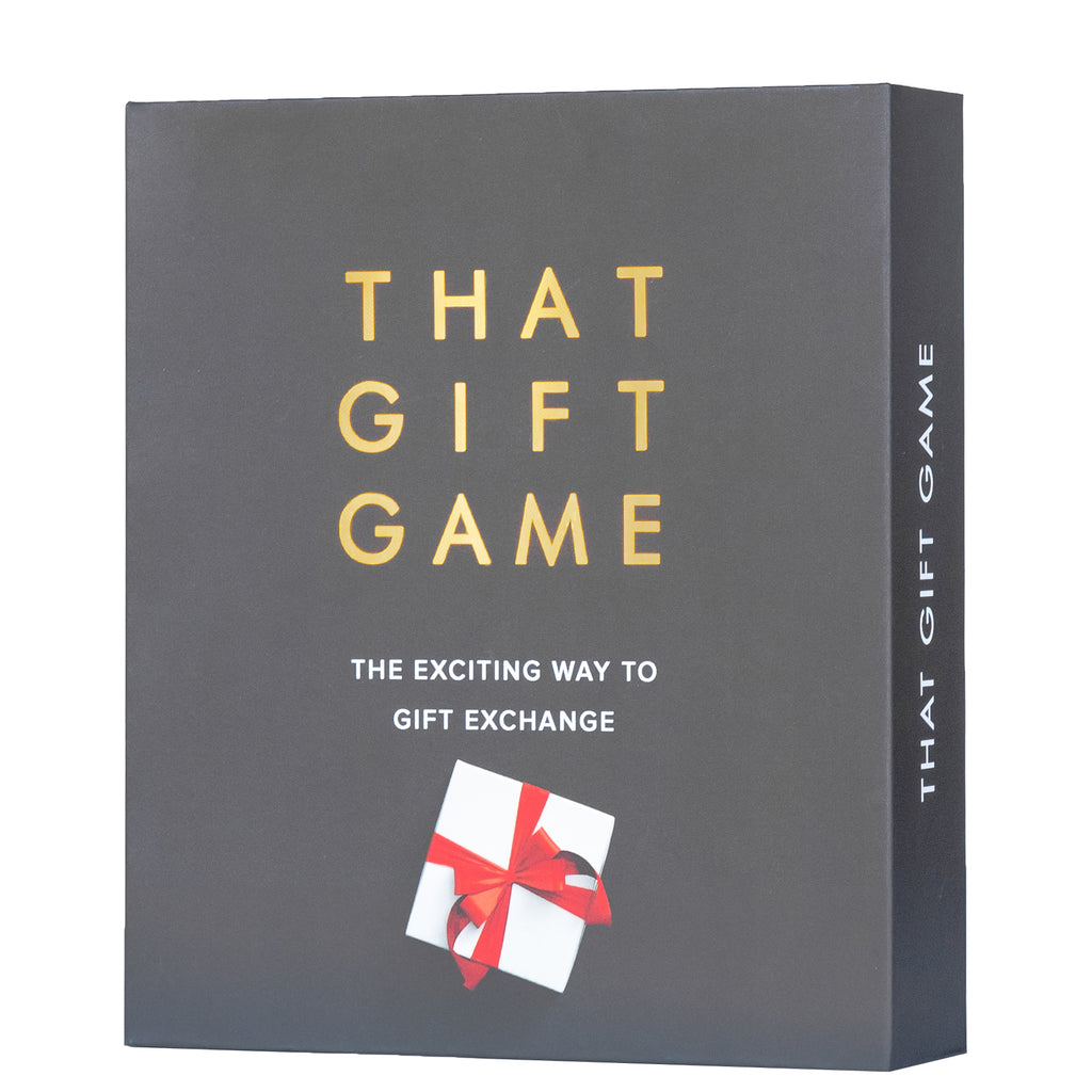 That Gift Game is the new present exchange game for your Christmas party.