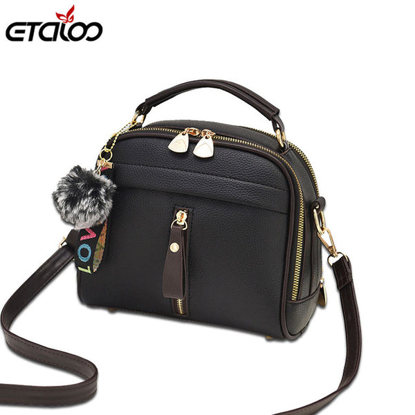 d57877945 Fashion Women Handbag PU Leather Women Messenger Bags With Ball Toy Female  Shoulder Bags Ladies Party