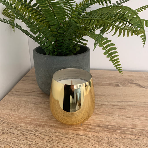 Gold Metal Pot - Candle