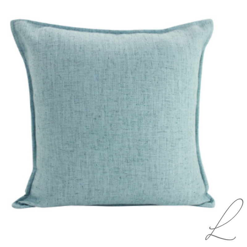 Linen Light Blue Cushion 55x55CM ( Min order 2 )