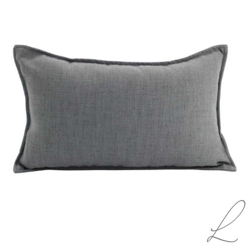 Linen Dark Grey Cushion 30x50cm ( Min order 2 )