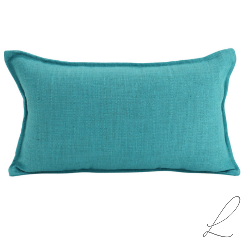 Linen Turquoise Cushion 30x50CM ( Min order 2 )