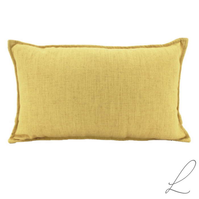 Linen Yellow Cushion 30x50CM ( Min order 2)