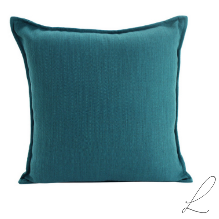 Linen Teal Cushion 55x55cm ( Min order 2 )