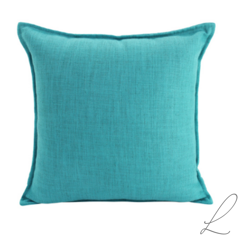 Linen Turquoise Cushion 55x55cm ( Min order 2 )