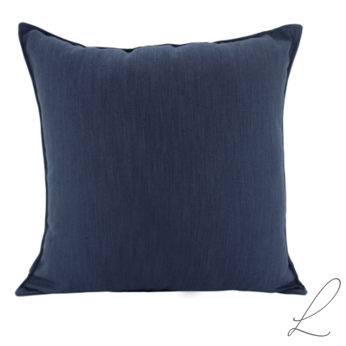Linen Navy Cushion 55x55cm ( min order 2 )