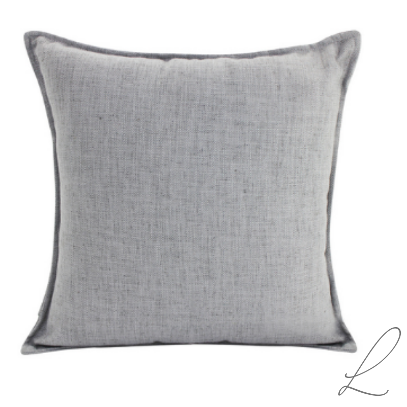 Linen Light Grey Cushion 55x55cm ( min order 2 )