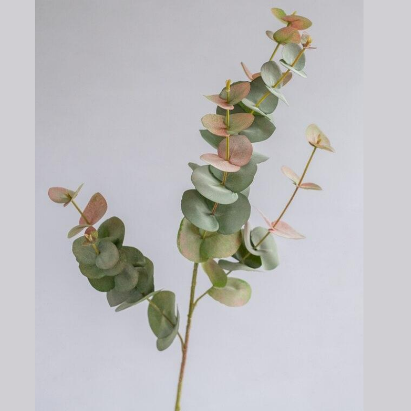 Eucalyptus Spray Grey/Red 90cm- Artificial Plant