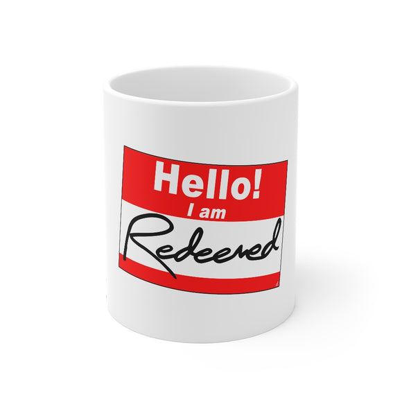 Hello Sticker - Redeemed Inspirational: Beverage Mug 11oz